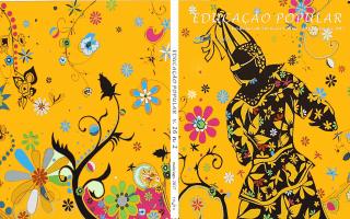 Capa floral da revista, com flores e plantas formando desenhos diversos