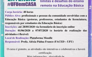 """Rede de Extensão #UFUemCASA divulga curso """"O Direito à Educação em tempos de COVID 19"""""""