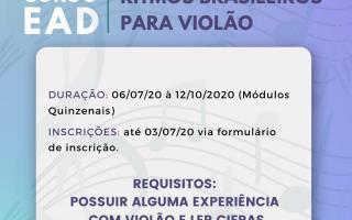 Proexc divulga Curso EAD Ritmos Brasileiros para Violão